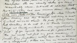 English Department -- Middlemarch manuscript